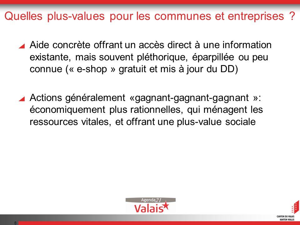 8 Quelles plus-values pour les communes et entreprises .