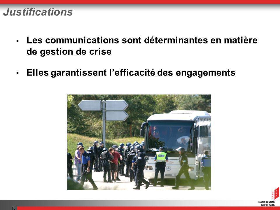 10 Justifications Les communications sont déterminantes en matière de gestion de crise Elles garantissent lefficacité des engagements