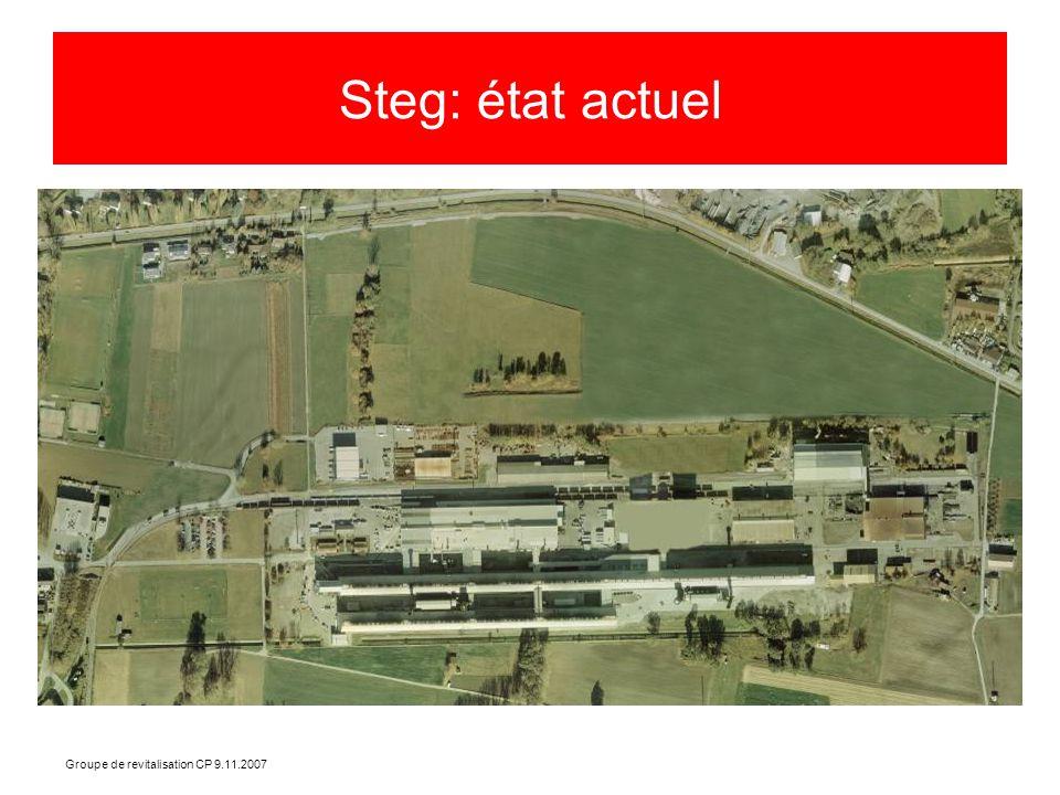 Groupe de revitalisation CP 9.11.2007 Steg: état actuel
