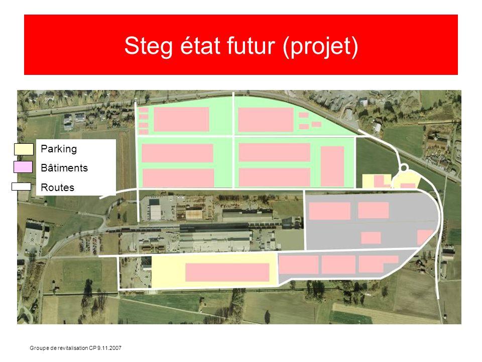 Groupe de revitalisation CP 9.11.2007 Steg état futur (projet) Parking Bâtiments Routes