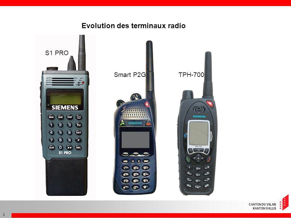 CANTON DU VALAIS KANTON WALLIS 3 Terminaux radio 3 ème génération TPH-700 TPM-700