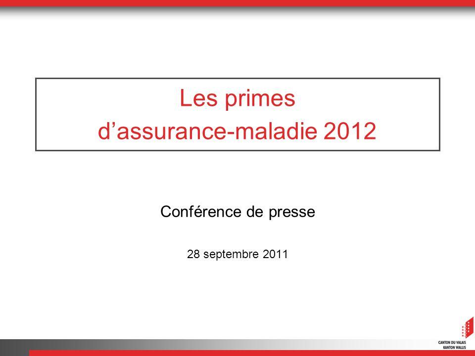 Les primes dassurance-maladie 2012 Conférence de presse 28 septembre 2011