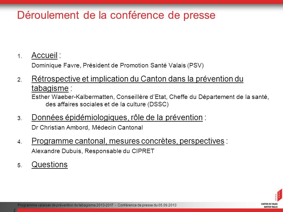 2 Déroulement de la conférence de presse 1.