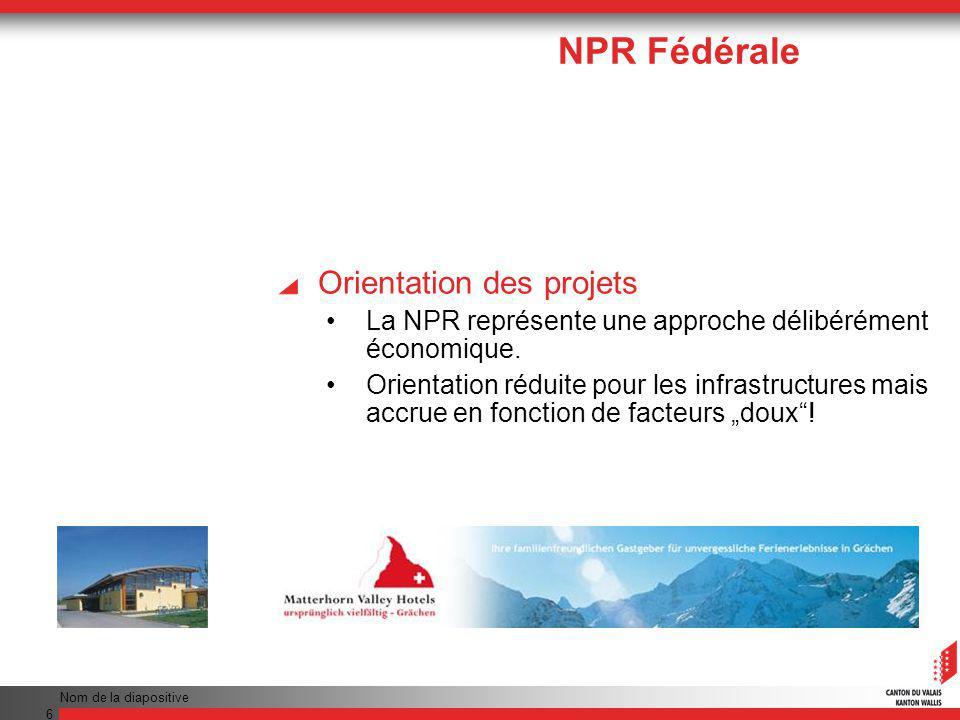 Nom de la diapositive 27 Prêts pour infrastructures Aide au logement: Octroyée dans les zones PSRM Aides à fonds perdu pour les personnes physiques Max.