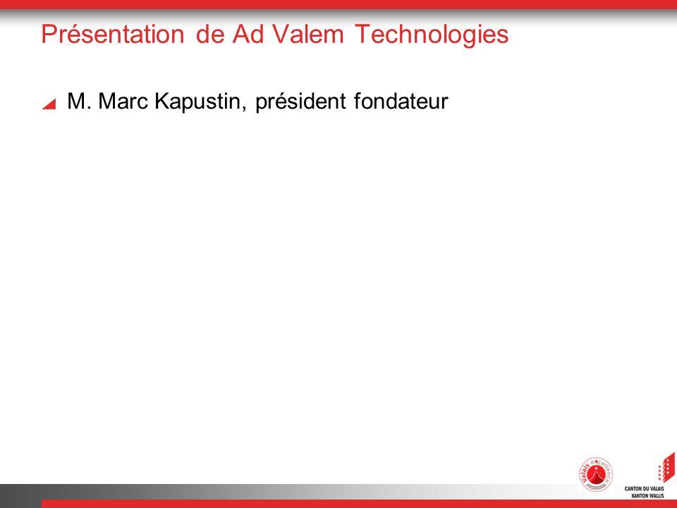 Présentation de Ad Valem Technologies M. Marc Kapustin, président fondateur