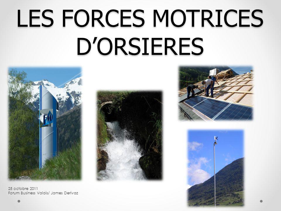LES FORCES MOTRICES DORSIERES 25 octobre 2011 Forum Business Valais/ James Derivaz