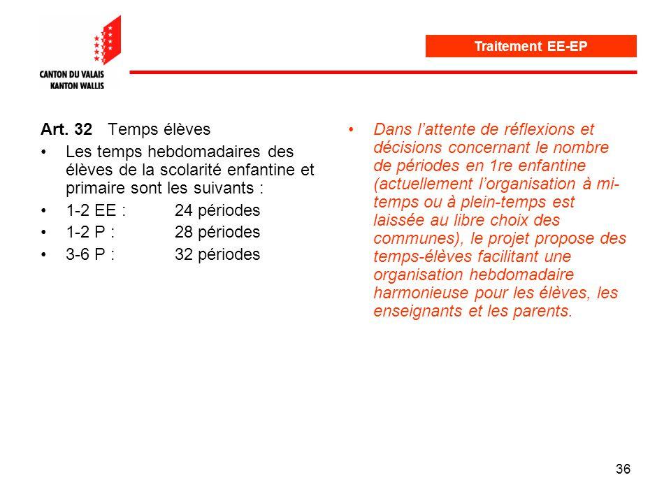 36 Traitement EE-EP Art.