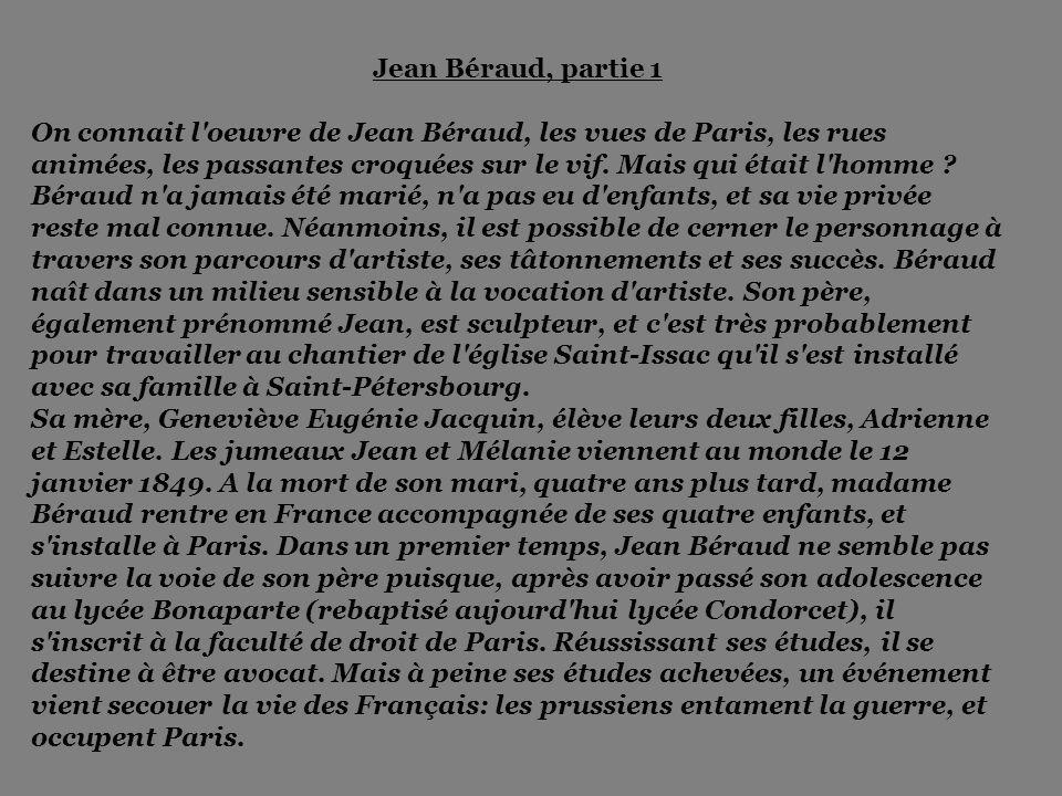 Cliquer pour changer de diapo Tableaux de Jean Béraud Musique : Maurice Chevalier - Y'a d'la joie