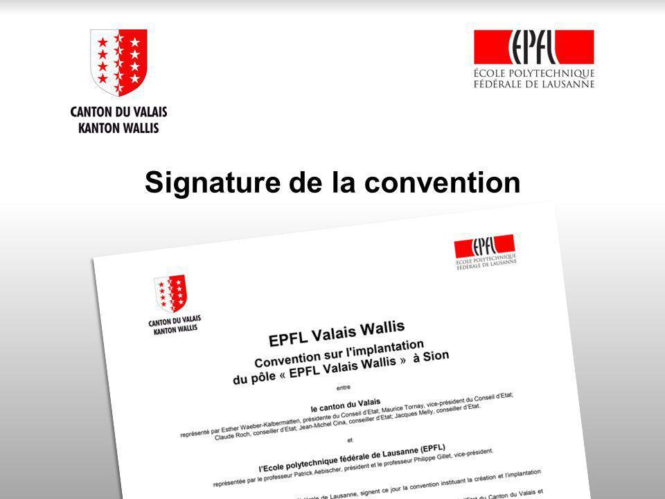 Signature de la convention