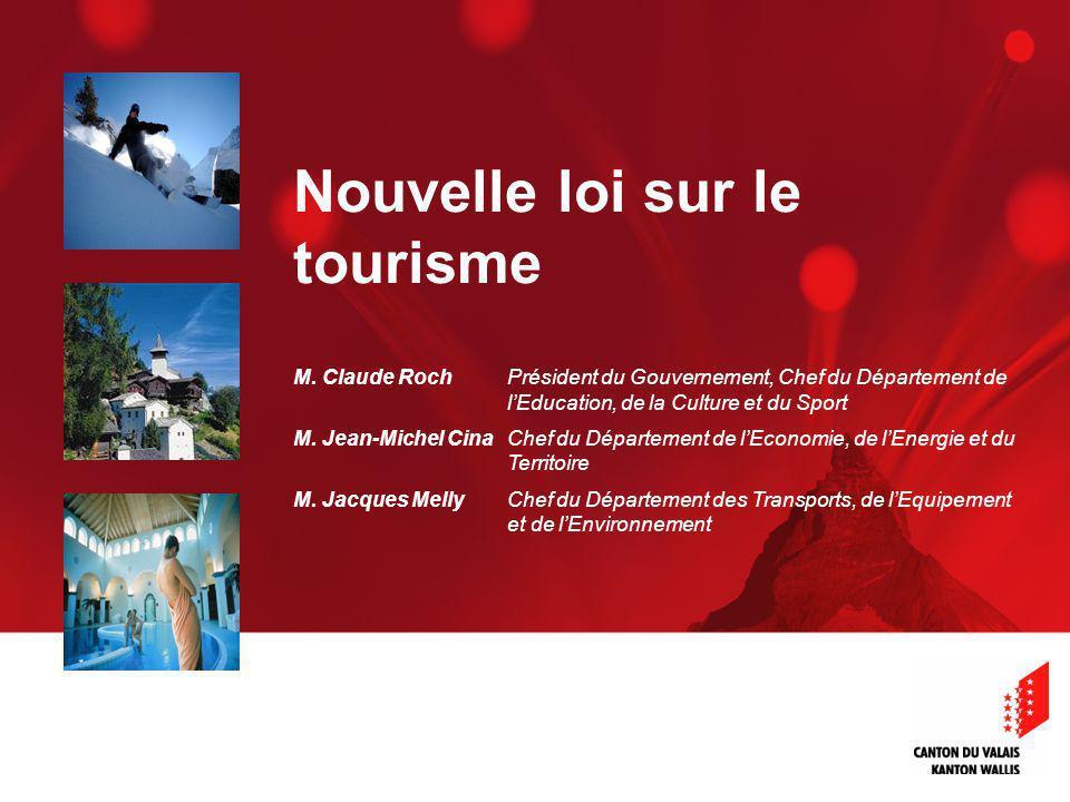 Nouvelle loi sur le tourisme M.
