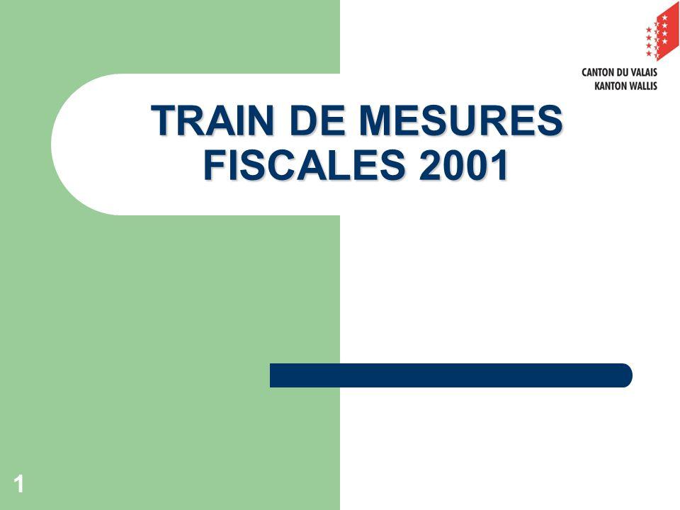 1 TRAIN DE MESURES FISCALES 2001