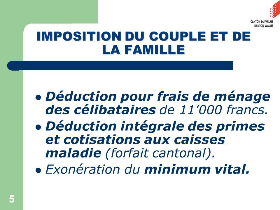 5 Déduction pour frais de ménage des célibataires de 11000 francs.