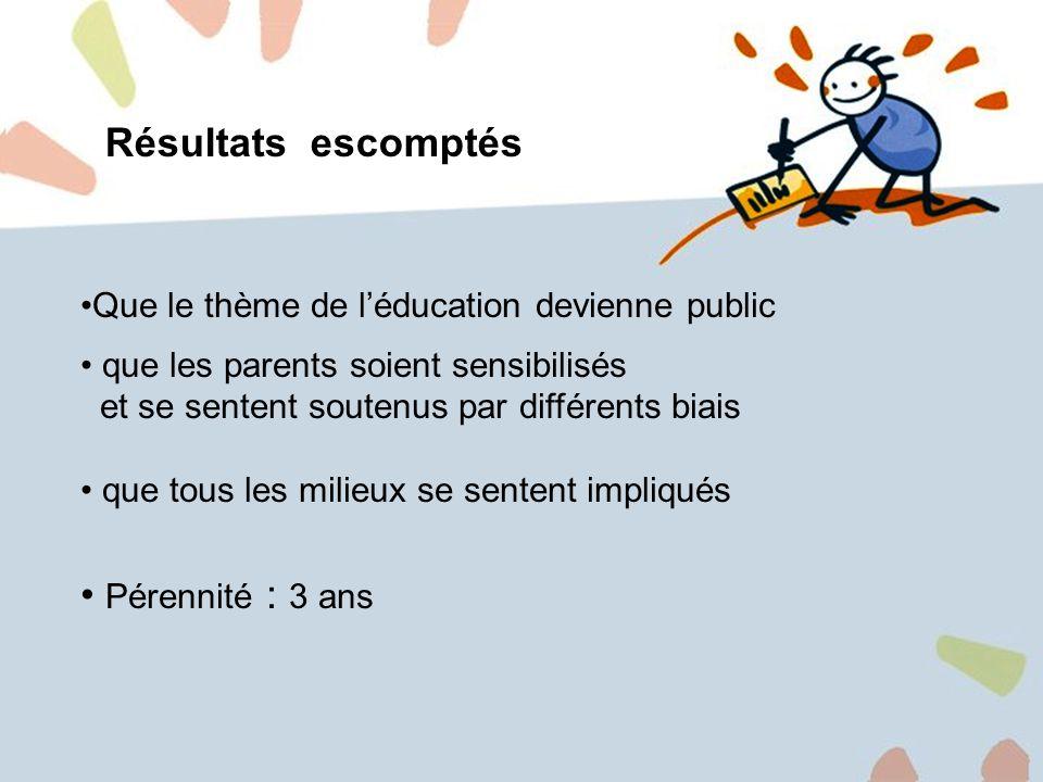 5 1.Information et distribution de brochures 2.Campagne daffichage 3.