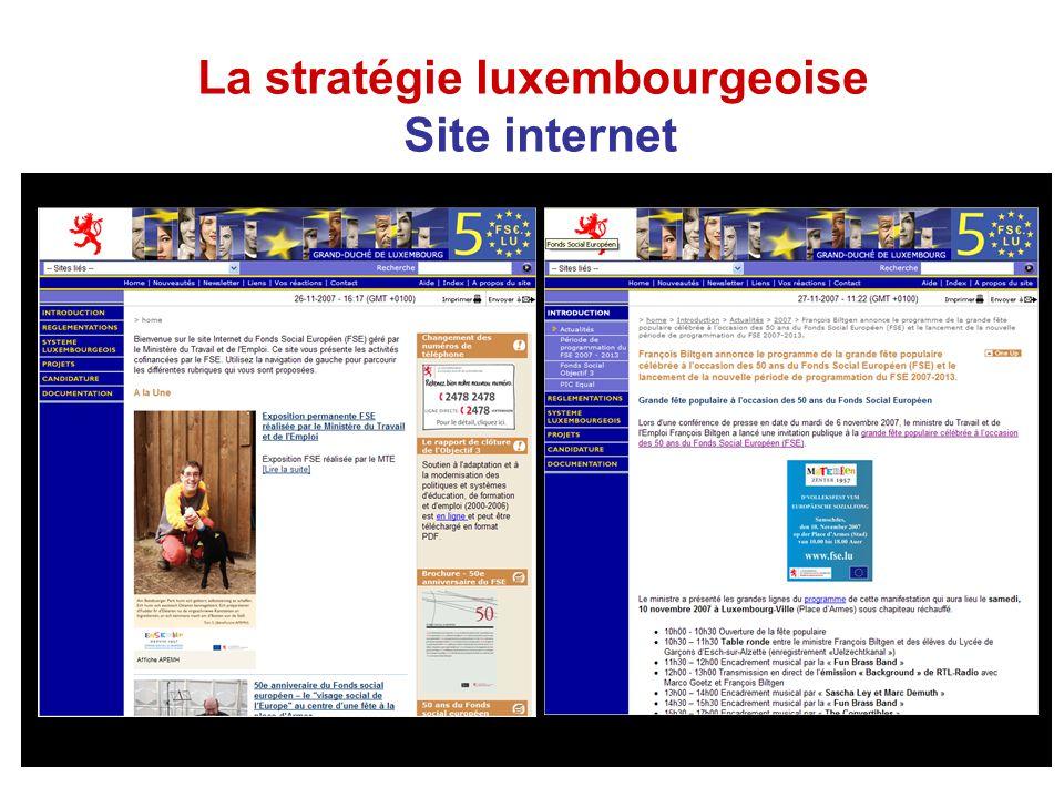 La stratégie luxembourgeoise Site internet