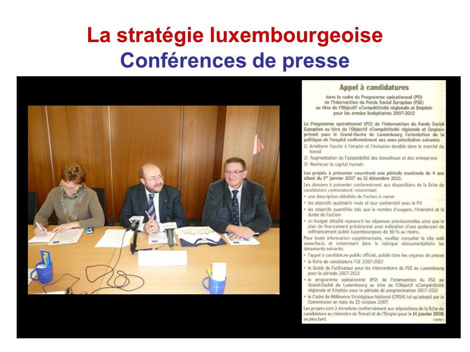 La stratégie luxembourgeoise Conférences de presse