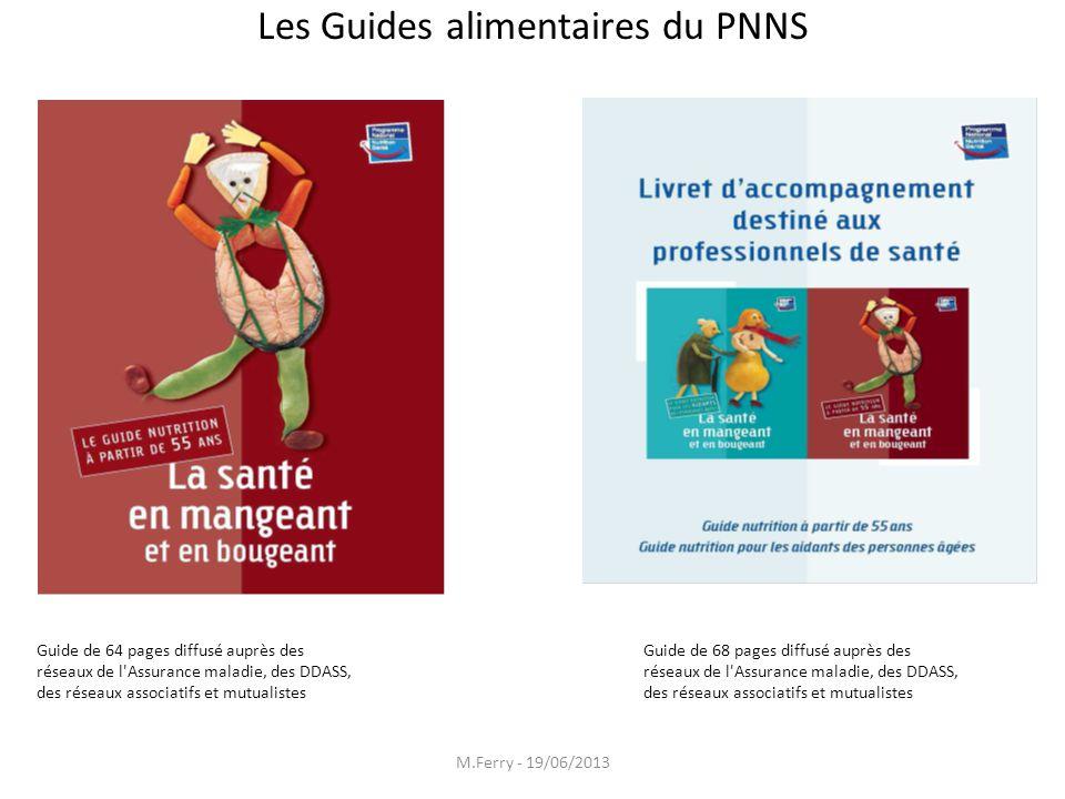 Les Guides alimentaires du PNNS pour leLess seniors Guide de 64 pages diffusé auprès des réseaux de l'Assurance maladie, des DDASS, des réseaux associ