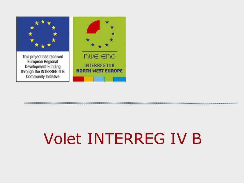 Volet INTERREG IV B