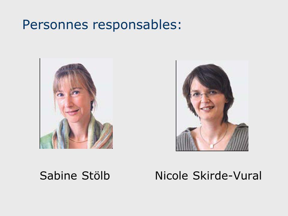 Personnes responsables: Sabine StölbNicole Skirde-Vural