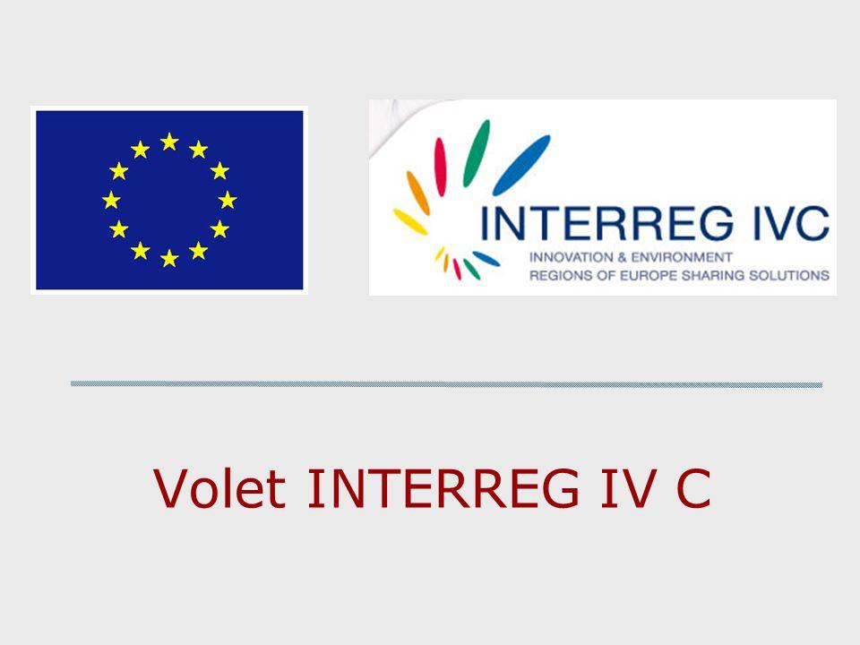 Volet INTERREG IV C