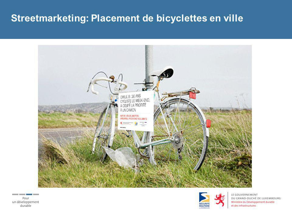 Streetmarketing: Placement de bicyclettes en ville
