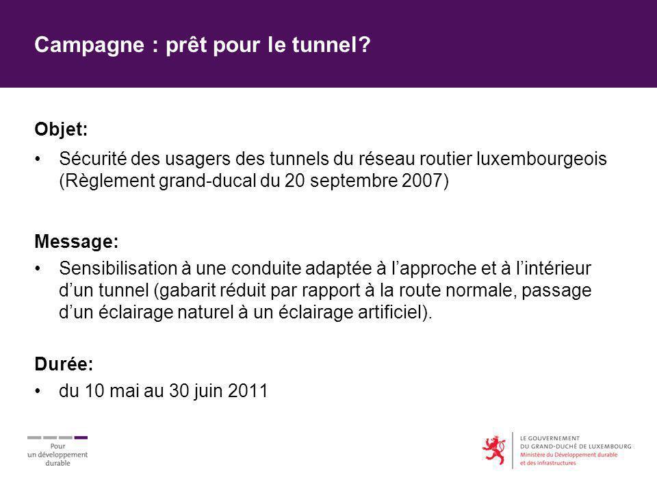 Campagne : prêt pour le tunnel.