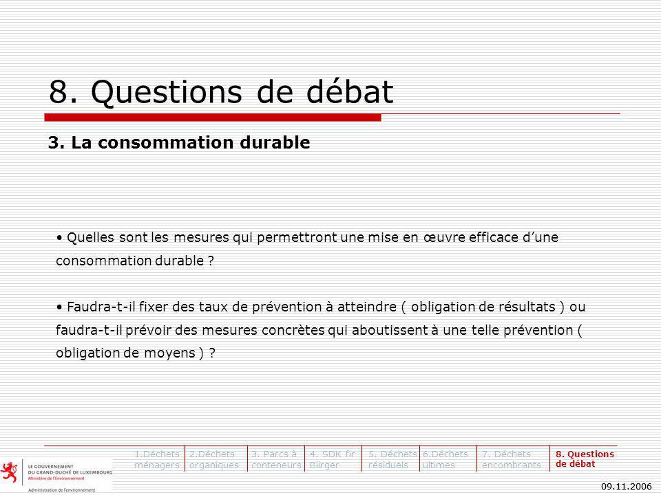 09.11.2006 8. Questions de débat 3.