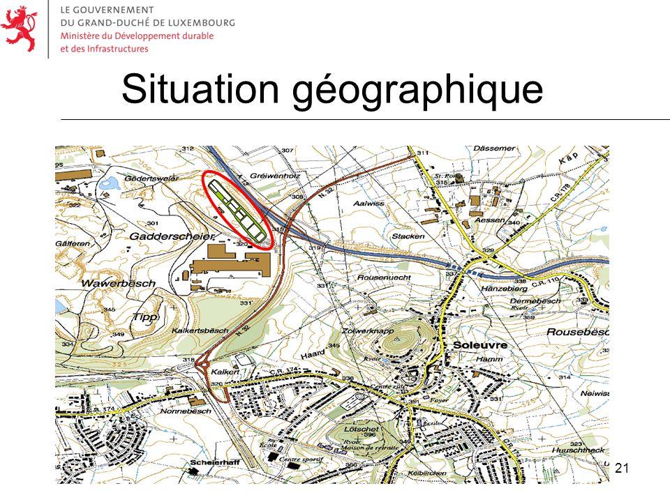 21 Situation géographique