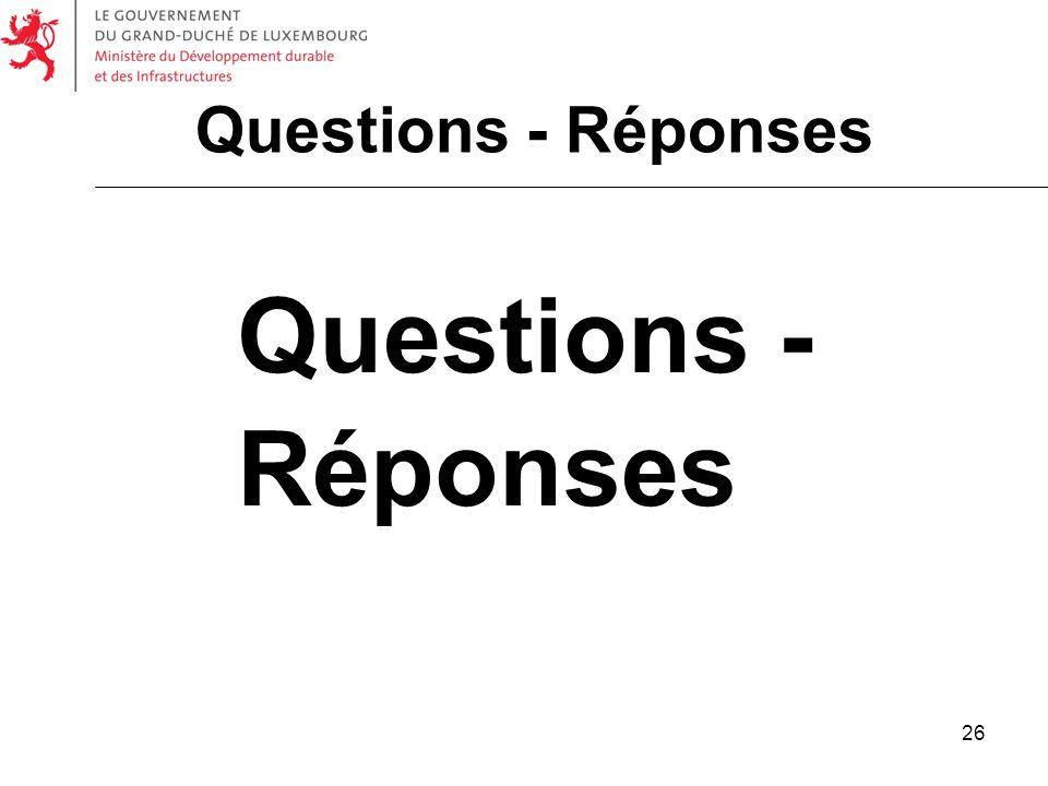 26 Questions - Réponses