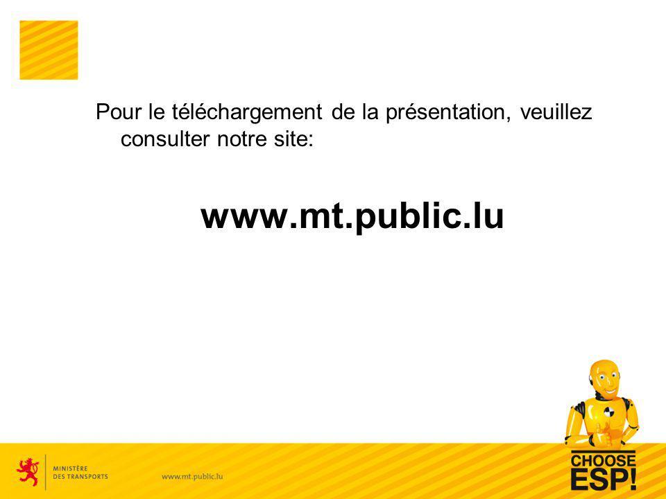 Pour le téléchargement de la présentation, veuillez consulter notre site: www.mt.public.lu