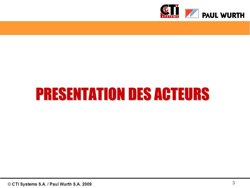 © CTI Systems S.A. / Paul Wurth S.A. 2009 3 PRESENTATION DES ACTEURS