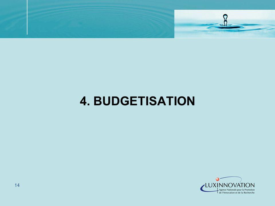 14 4. BUDGETISATION