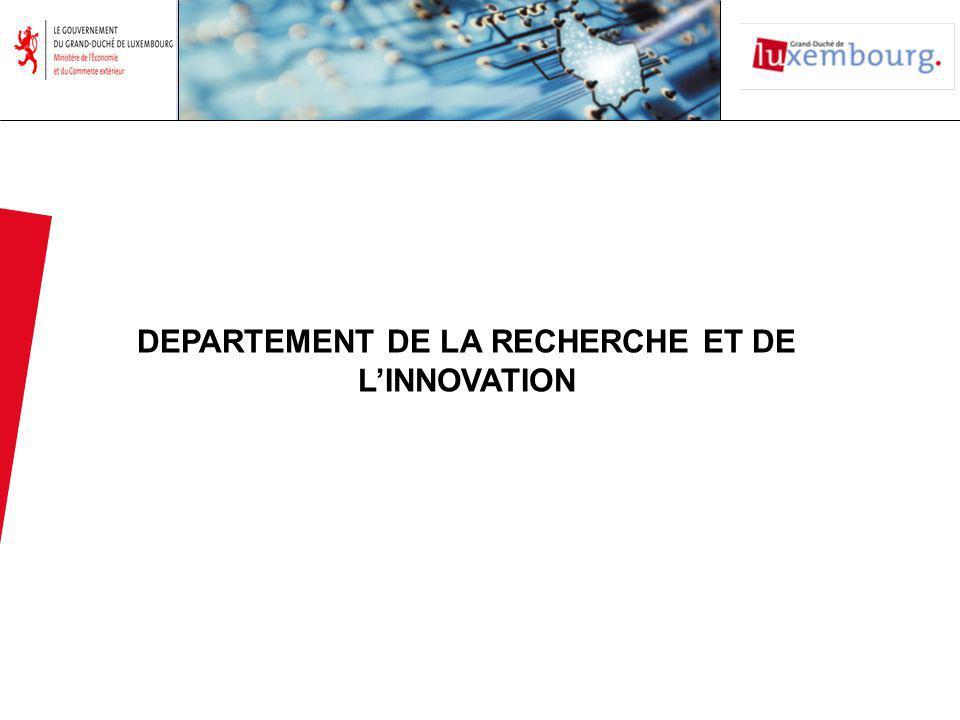 DEPARTEMENT DE LA RECHERCHE ET DE LINNOVATION
