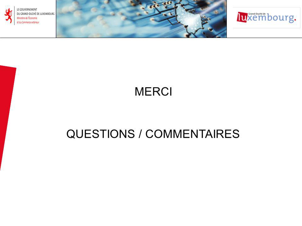 MERCI QUESTIONS / COMMENTAIRES