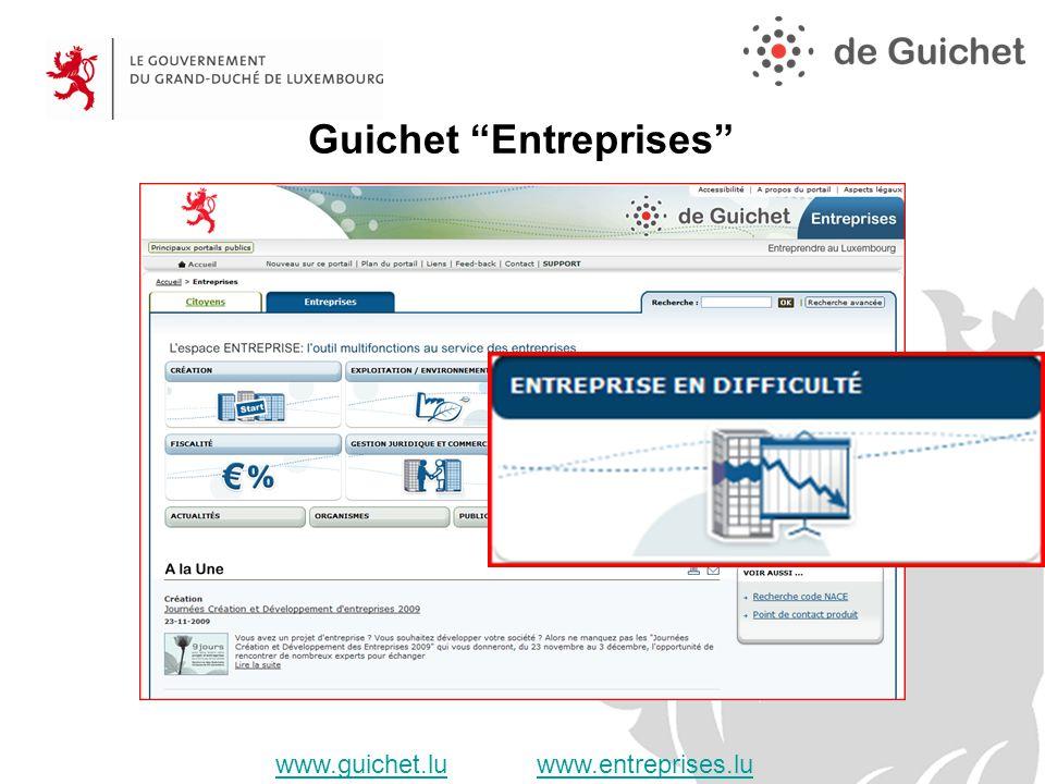 www.guichet.luwww.guichet.lu www.entreprises.luwww.entreprises.lu Guichet Entreprises