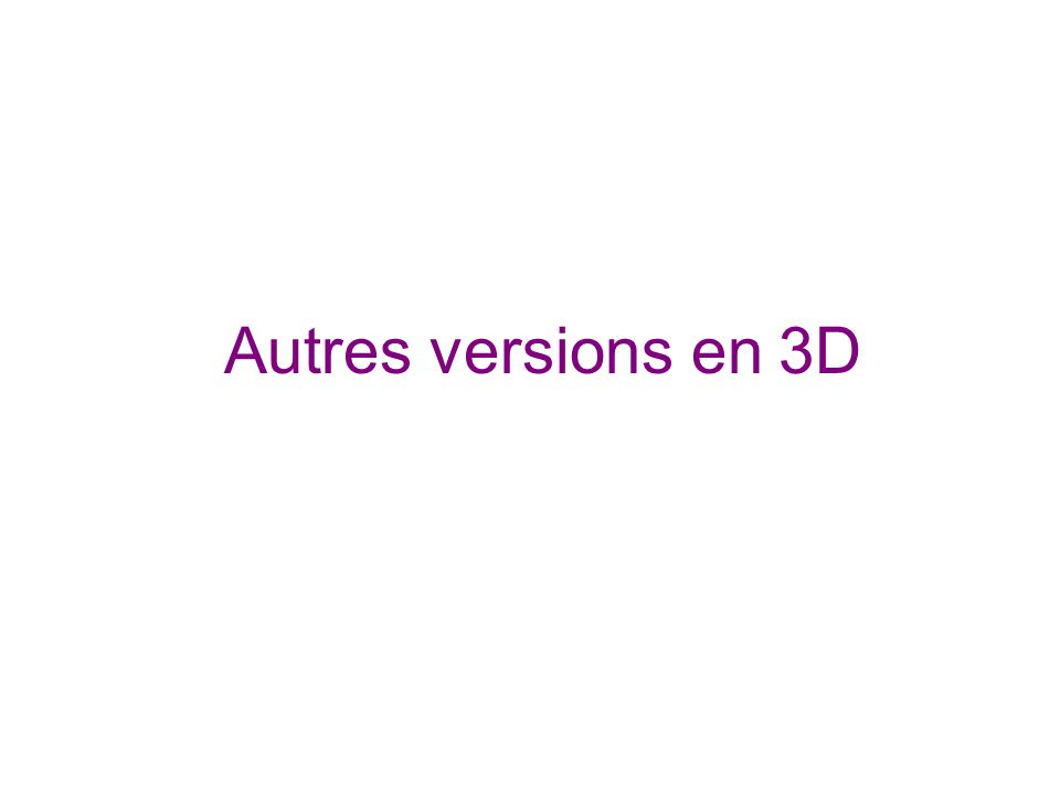 Autres versions en 3D