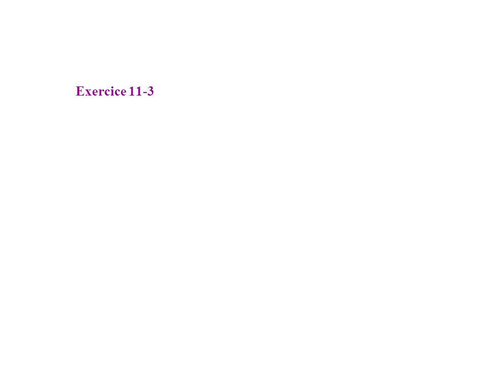 Exercice 11-3