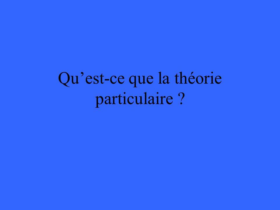 Quest-ce que la théorie particulaire ?