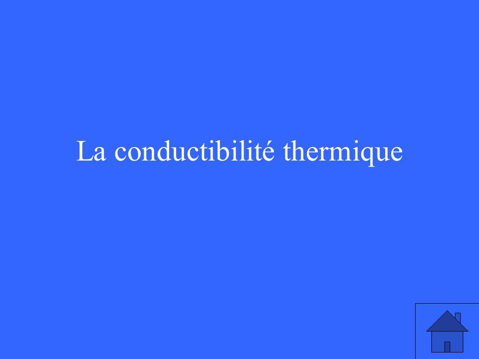 La conductibilité thermique