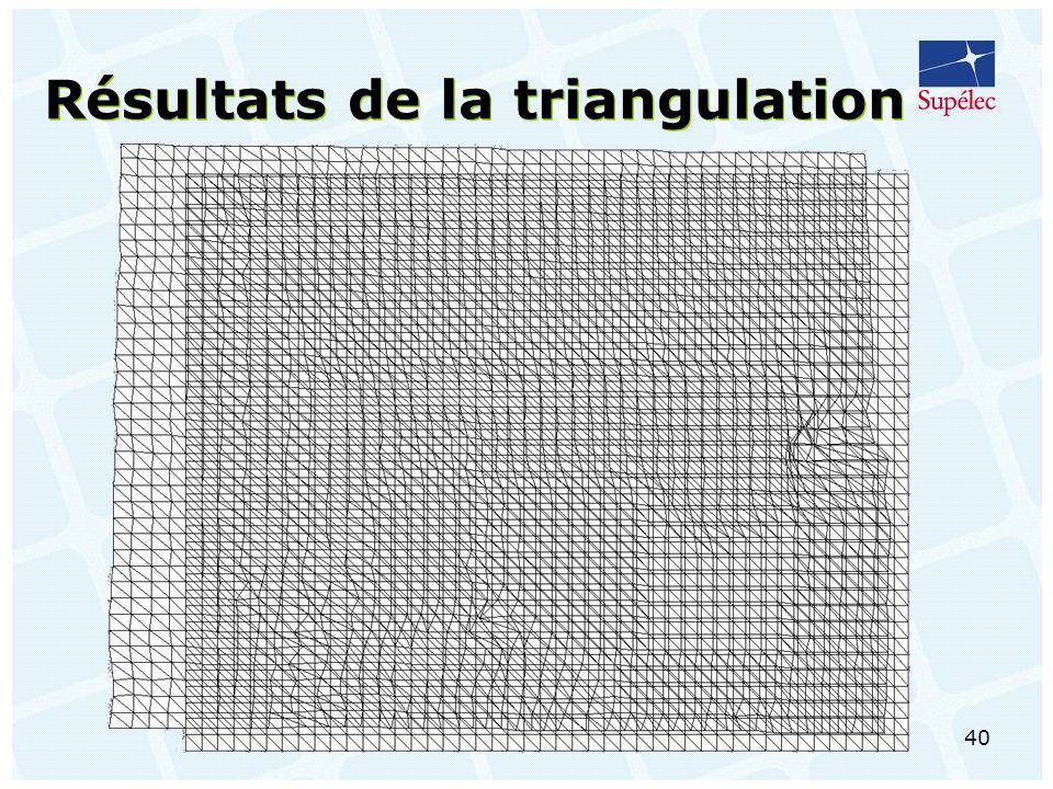 40 Résultats de la triangulation