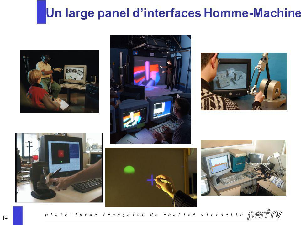 14 Un large panel dinterfaces Homme-Machine