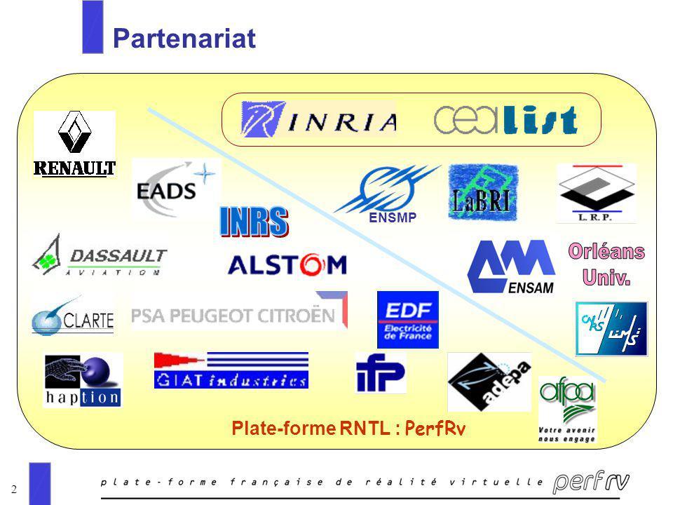 2 Partenariat ENSMP Plate-forme RNTL : PerfRv