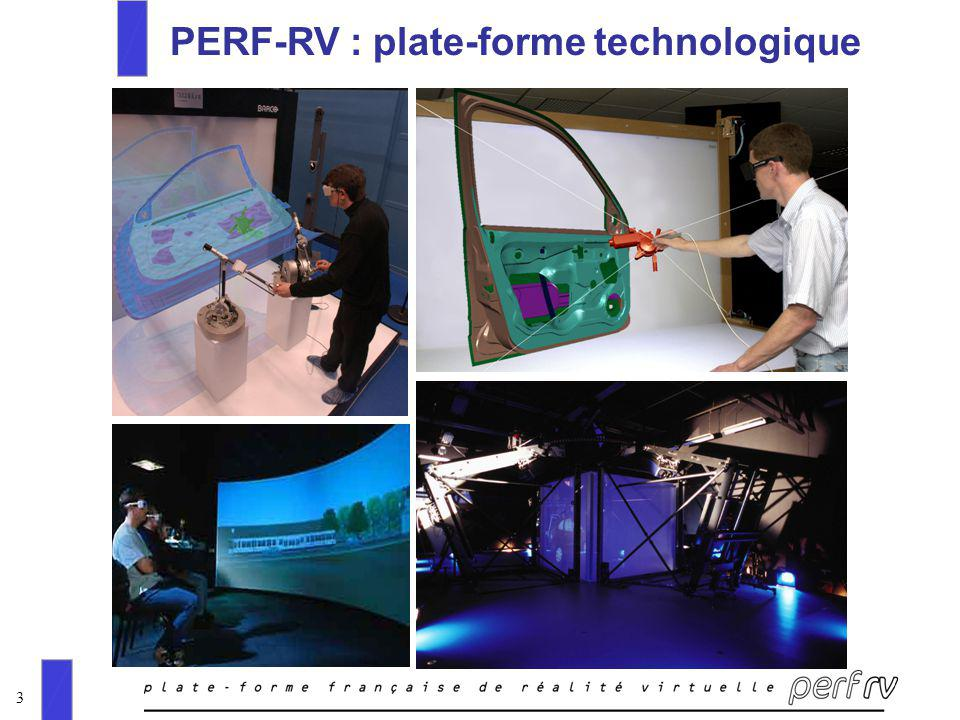 3 PERF-RV : plate-forme technologique