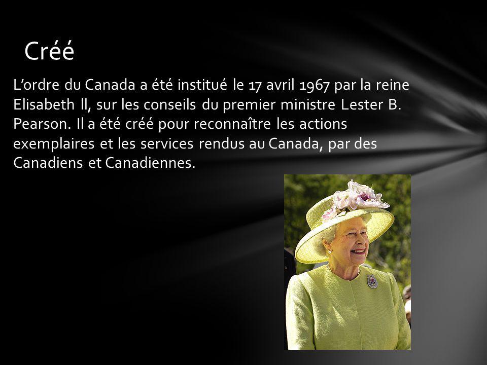 Dans lOrdre du Canada toute personne ou tout groupe peut présenter la candidature dindividus dignes dêtre nommés.