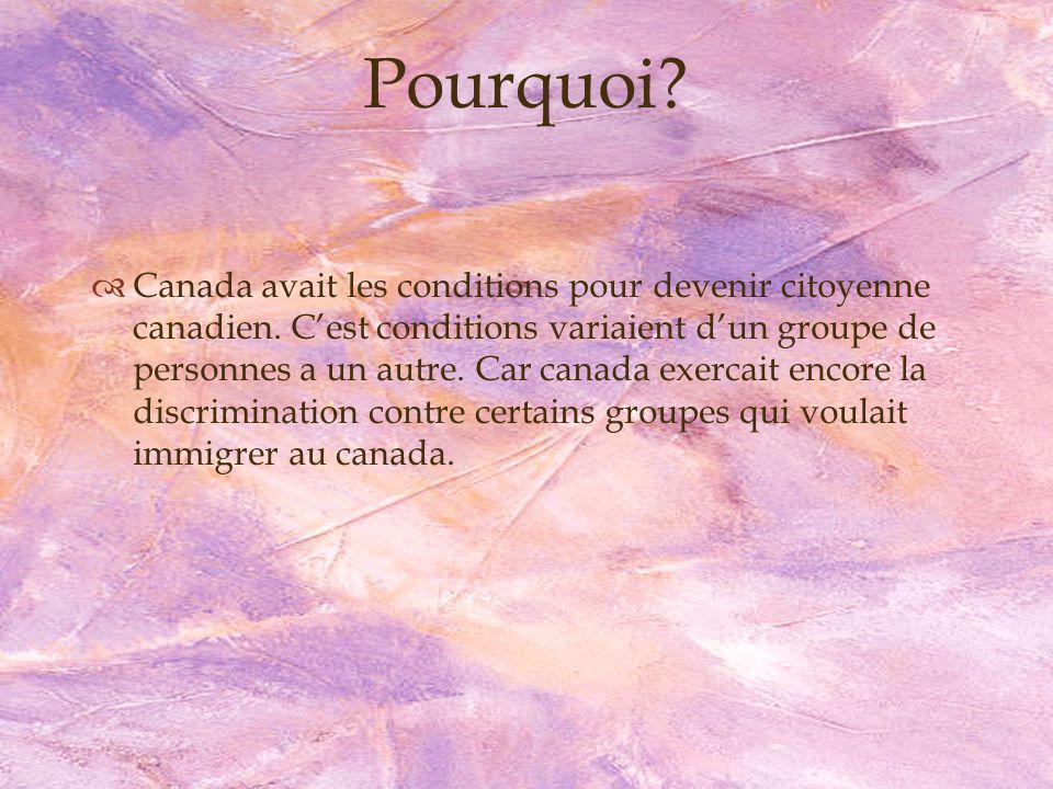 Vrai ou Faux 7.Si ma mère est Canadien, est ce que je suis canadien?