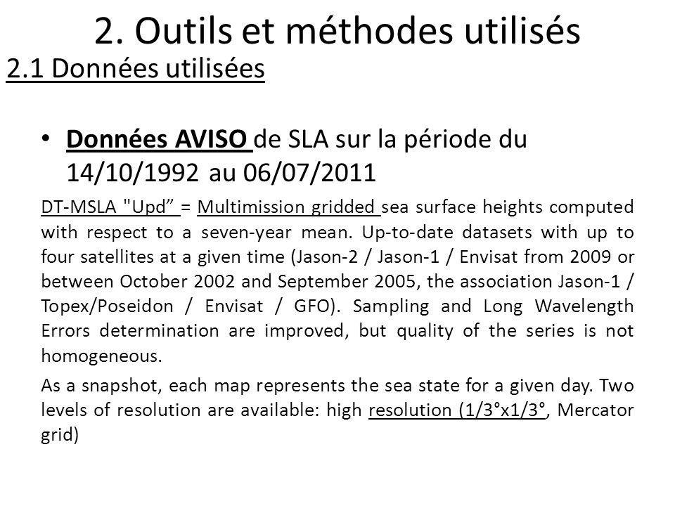 Données AVISO de SLA sur la période du 14/10/1992 au 06/07/2011 DT-MSLA