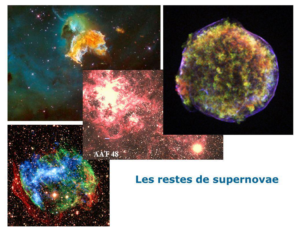 Les restes de supernovae