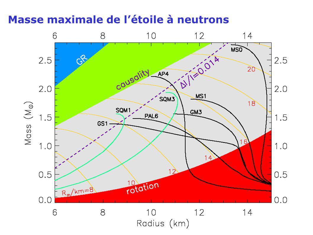 Masse maximale de létoile à neutrons