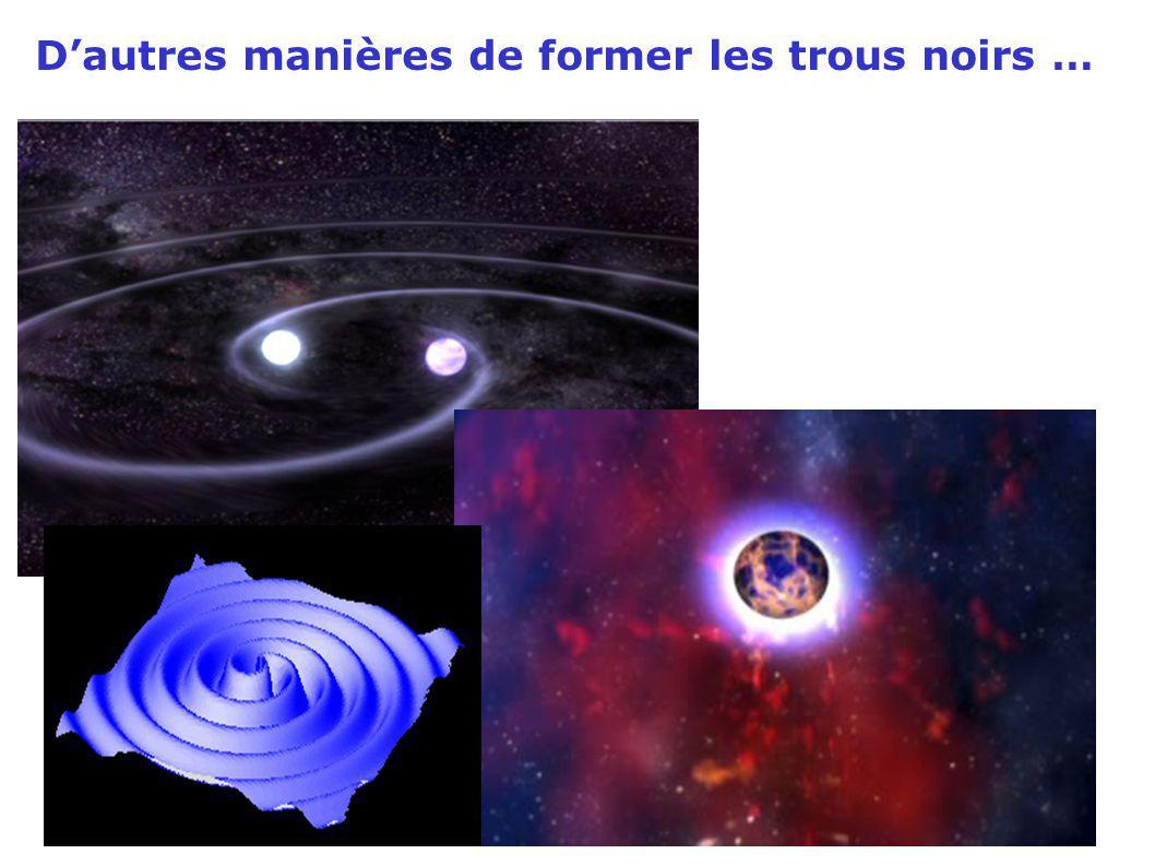 Dautres manières de former les trous noirs …