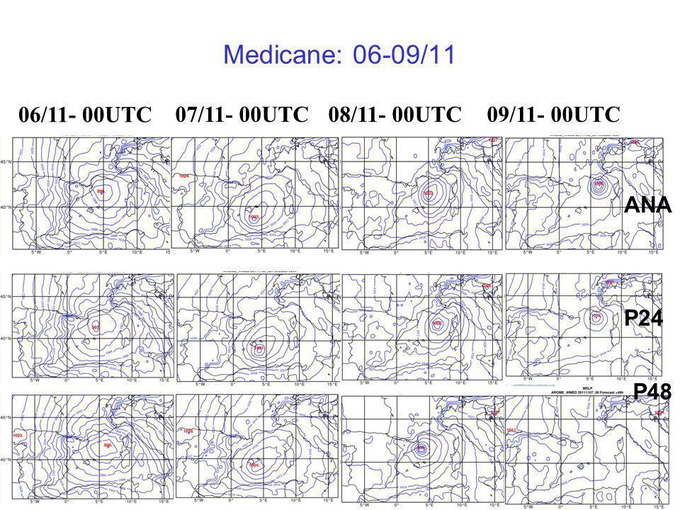 18 Medicane: 06-09/11 ANA P24 P48 06/11- 00UTC 07/11- 00UTC08/11- 00UTC09/11- 00UTC