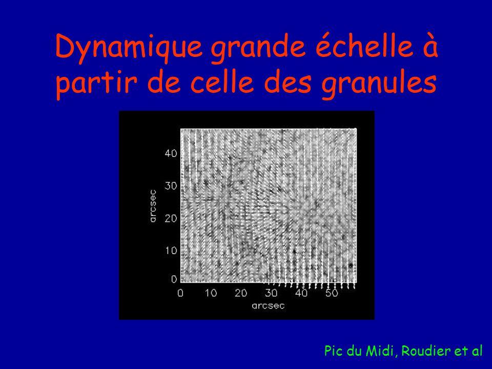 Dynamique grande échelle à partir de celle des granules Pic du Midi, Roudier et al